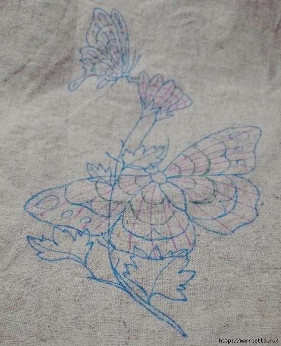 Вышивка гладью Бабочка (1) (570x700, 282Kb)