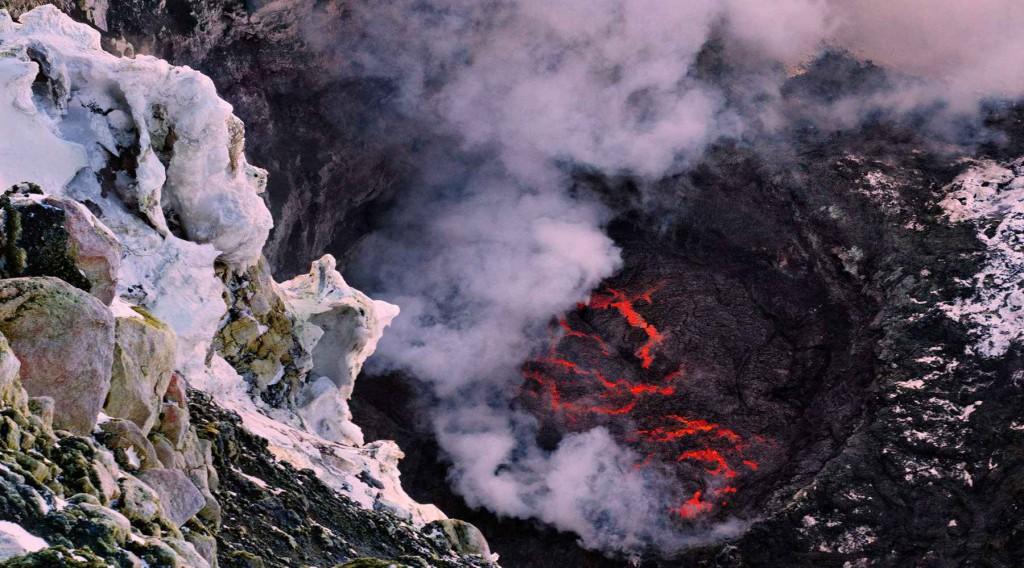Седьмое место: вулкан Эребус в Антарктиде.