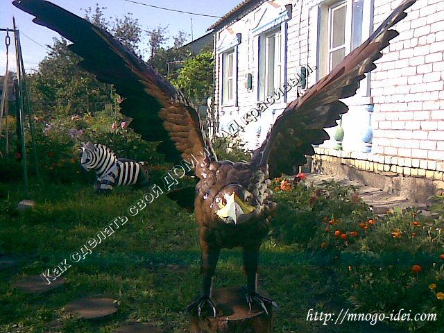 Орёл из пластиковых бутылок своими руками пошаговая инструкция фото