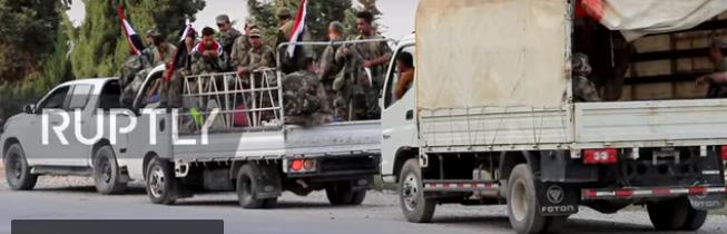Конвой сирийской армии встретился с отступающими американскими военными