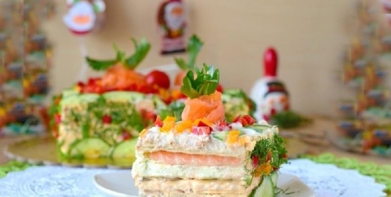Праздничный бутербродный торт: настоящий шедевр для украшения стола