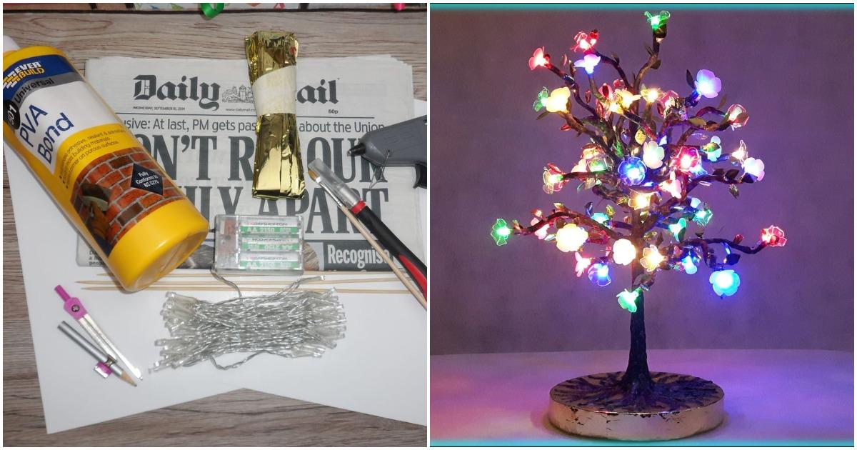 Светящееся дерево своими руками. Оригинальный и стильный декор интерьера