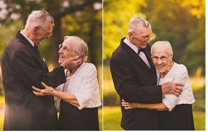 Вместе 65 лет: трогательная фотосессия к годовщине свадьбы