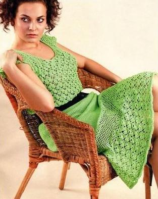 Платье (вязание крючком)
