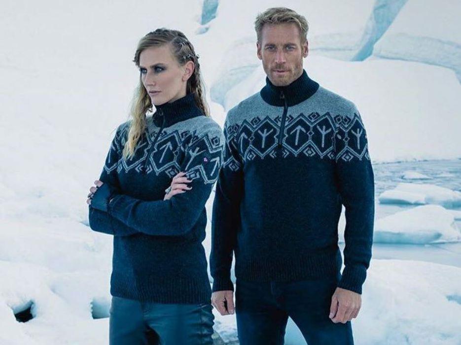 На свитерах норвежских олимп…