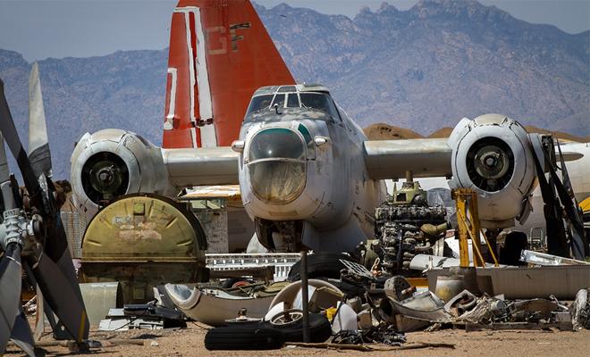 Самое большое в мире кладбище самолетов
