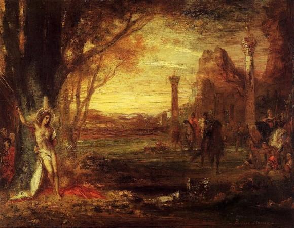 Святой Себастьян и своих палачей - Гюстав Моро