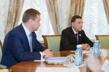 Свердловский губернатор встретился с послом США в России Джоном Хантсманом