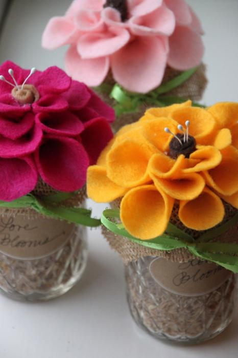 Цветы в горшках из фетра своими руками мастер класс