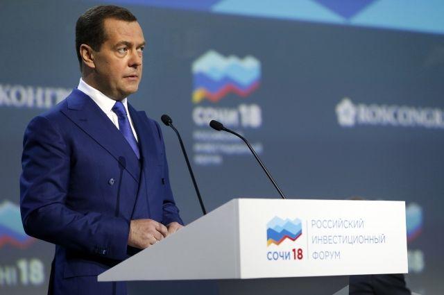 Медведев объяснил, за счет чего возросла динамика ВВП России