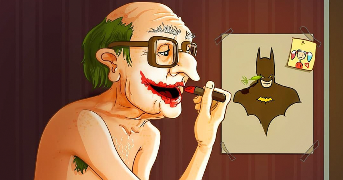 Artist Transforms Famous Characters Into Grandpas And Grandmas, And The Result Will Amuse You