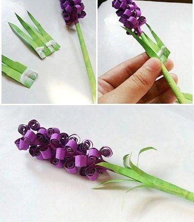 Букет из бумажных цветов для детей