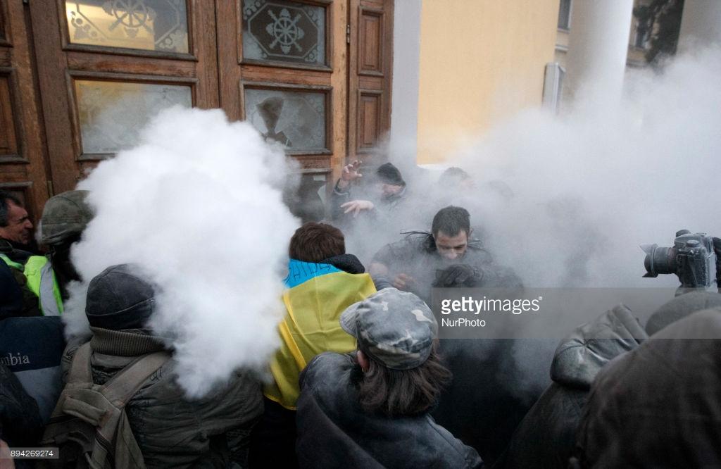 Что Саакашвили устроил вчера в Киеве.