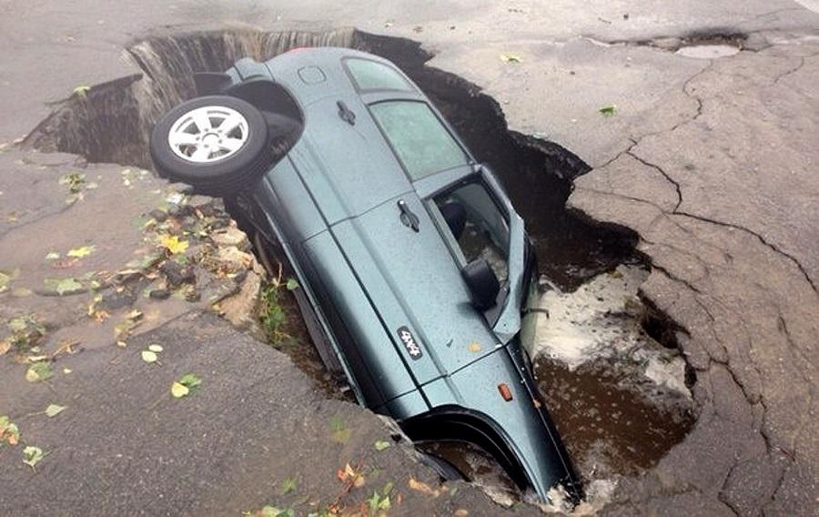 Утонула в кипятке: Машина уш…