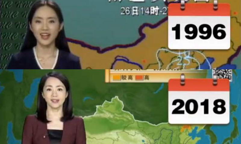 Китаянка 22 года ведет прогноз погоды и за это время ни капли не постарела