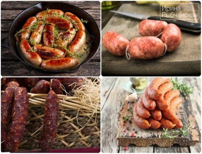 Домашняя колбаса из свинины в кишках во всевозможных ипостасях