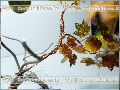 Денежное дерево из пайеток