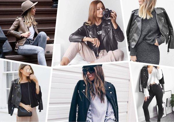 10 вдохновляющих способов носить кожаную куртку