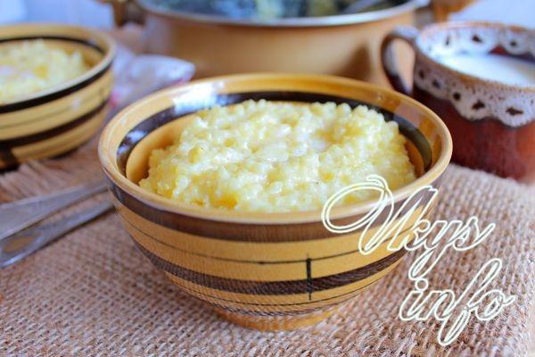 Каша пшенная с рисом на молоке рецепт