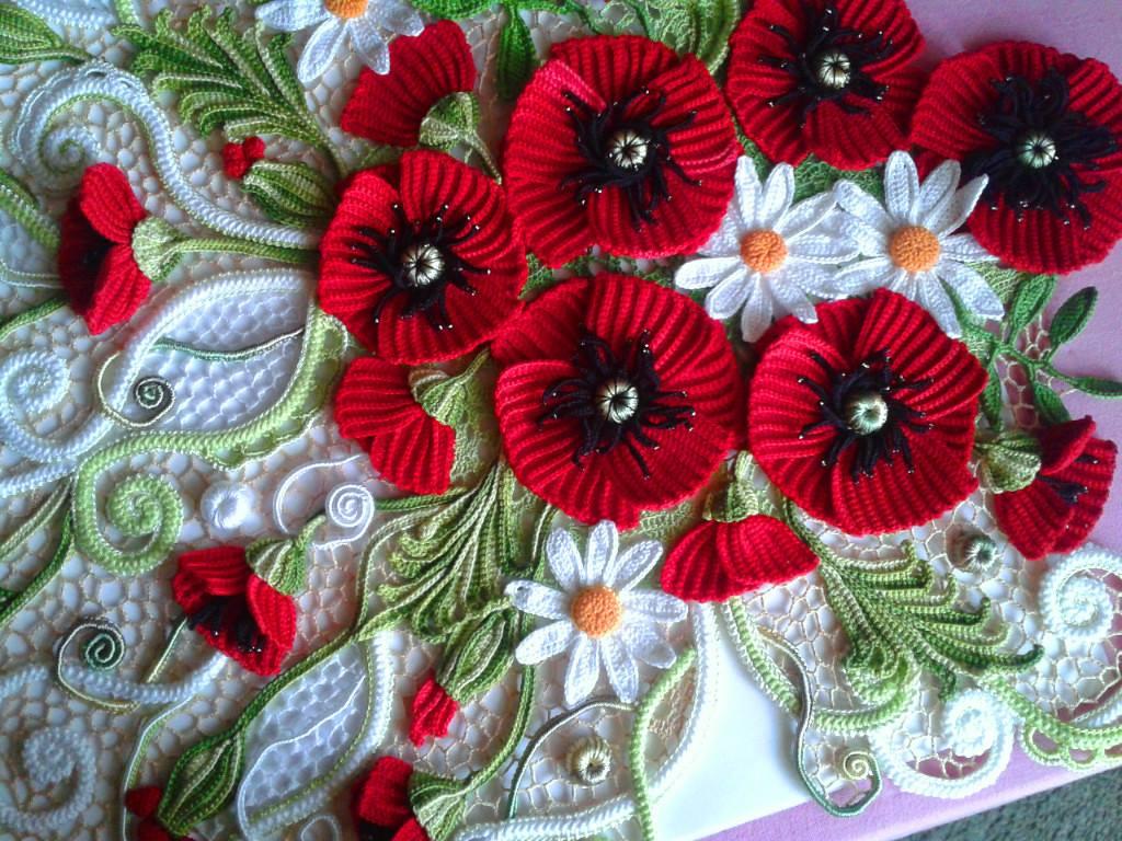 Марина цветы видео вязание