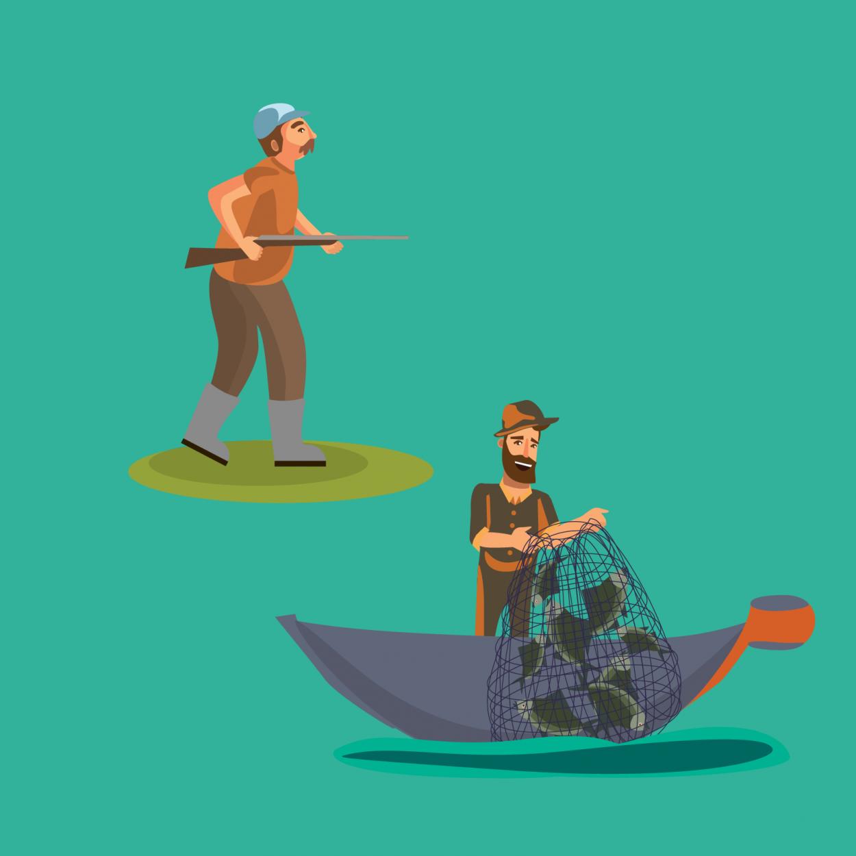 Анекдоты о рыбаках и охотниках