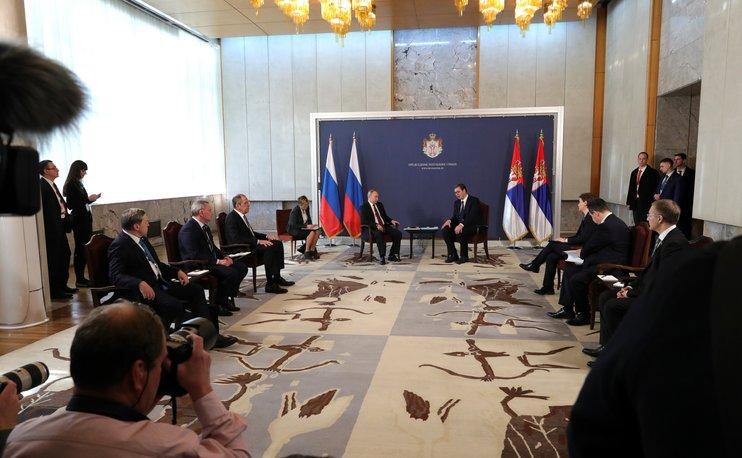 """Путин: Россия готова вложить $1,4 млрд в продолжение """"Турецкого потока"""" через Сербию"""