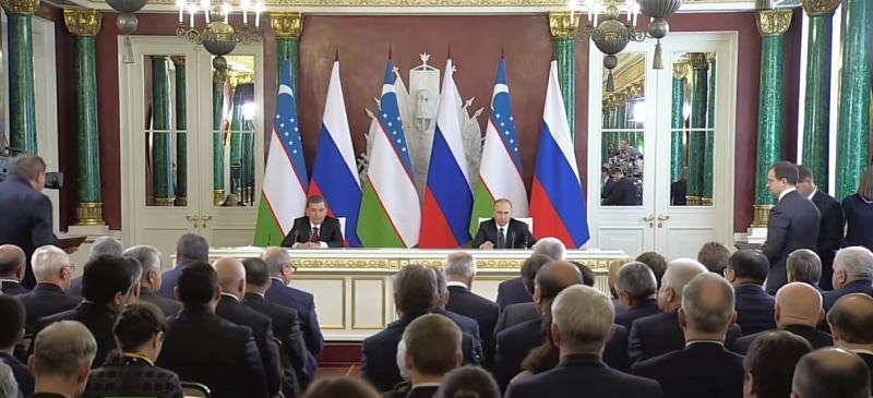 Путин и Мирзиеев запустили проект строительства АЭС в Узбекистане