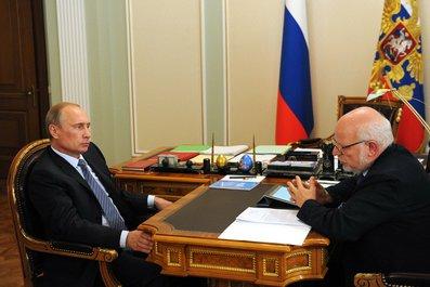 С Председателем Совета по развитию гражданского общества и правам человека Михаилом Федотовым.