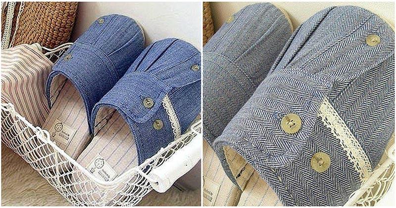 Фантазия не знает границ: впечатляющая идея по пошиву тапочек для дома