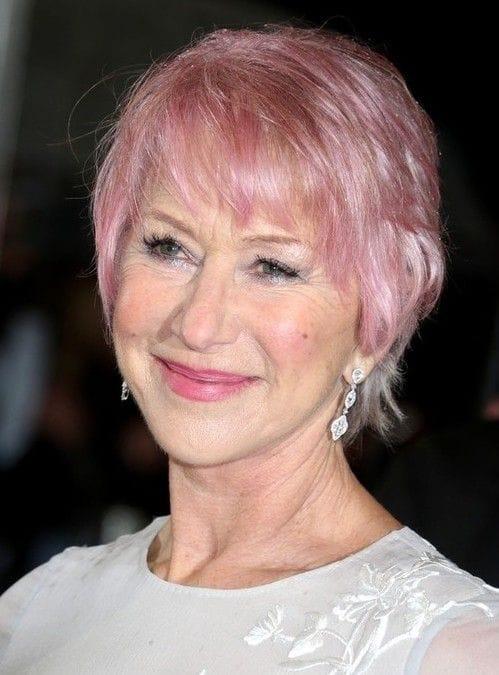Хилен Миррен с розовыми волосами