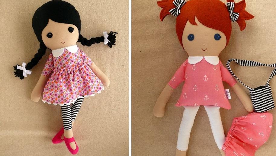 Мягкая подружка: очень простая выкройка текстильной куклы