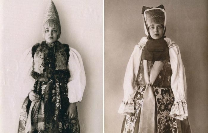 Роскошные русские красавицы в национальных костюмах