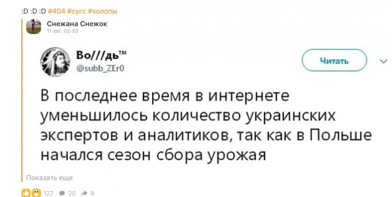 Про украинских экспертов и аналитиков