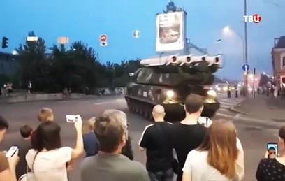 "В центре Киева ЗРК ""Бук"" врезался в здание бизнес-центра"