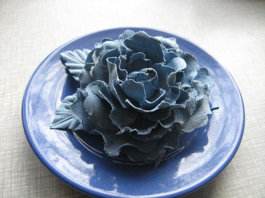 Джинсовые цветы своими руками фото 725