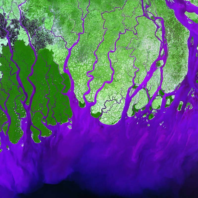 Landsatprogramme 8 Фото со спутника   Земля как произведение искусства