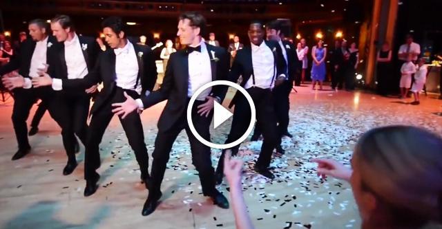 Этот свадебный танец жениха и его друзей покорил миллионы сердец. Потрясающе!