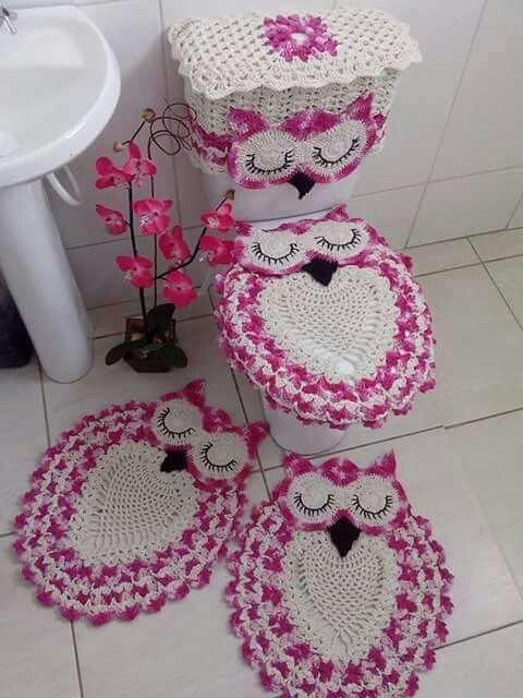 Бабушка приезжала: коврик для ванной крючком
