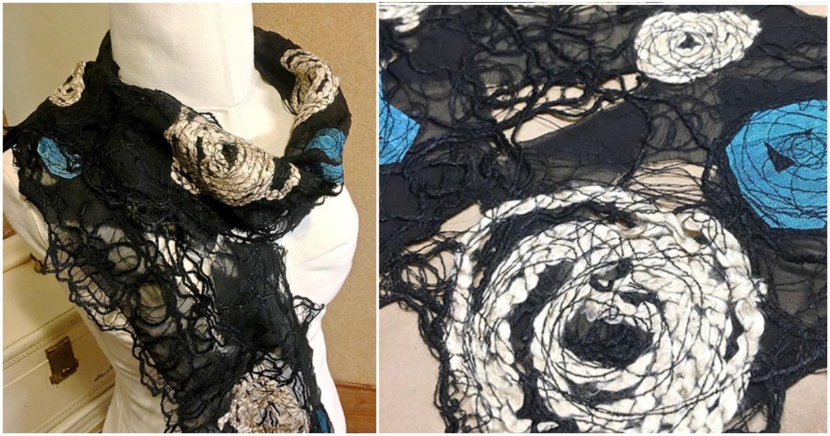 Арт-шарф — стильный эксперимент для любителей креатива