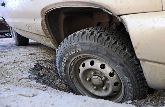 Если повредили автомобиль в дорожной выбоине