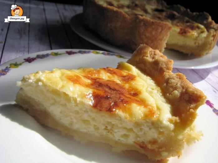 Песочный пирог с сырной начинкой