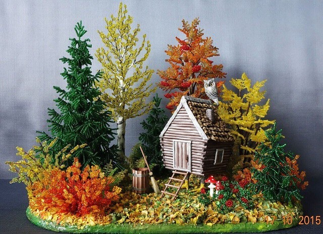 Осенняя сказка из бисера