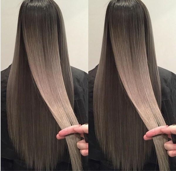 Как сделать переход на волосах