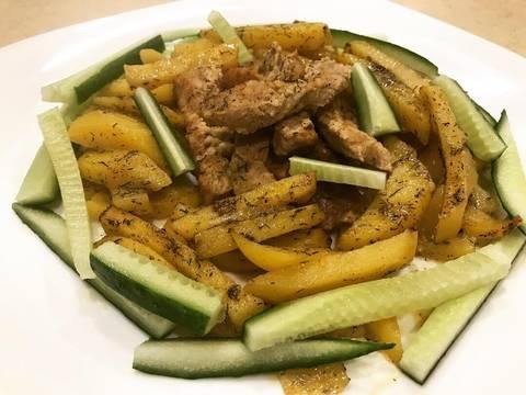 Свинина в горчичном соусе с картофелем в духовке recipe step 8 photo