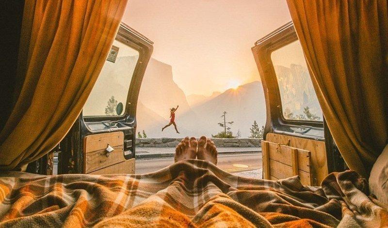 """""""Не каждый наш день идеален, но каждый день мы делаем то, что любим, и это самое главное для нас"""", - сказала Клео австралия, жизнь, пара, приключение, путешествие, фотография, фургон"""