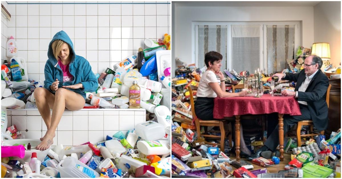 Необычный фотопроект: как будет выглядеть ваш быт, если 4 года не выбрасывать мусор