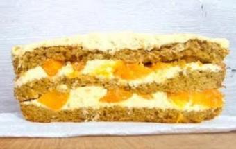 Торт манго-манго с кремом пломбир
