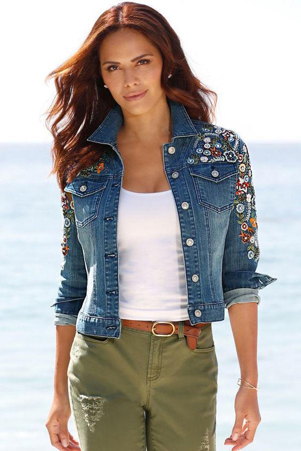 Многообразный декор джинсовых курток: 50 интересных вариантов