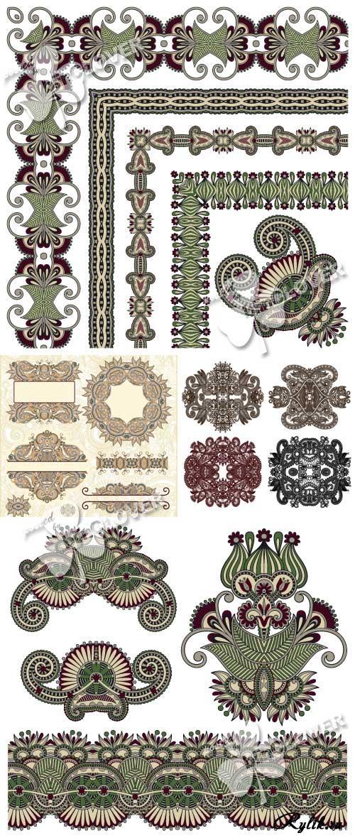 Векторные орнаменты, уголки, рамки - скачать декоративные элементы бесплатно