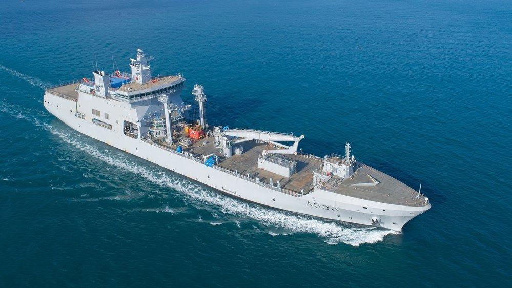 Норвежский корабль комплексного снабжения Maud наконец-то в море